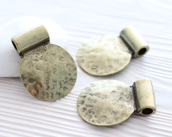 Antique gold tribal pendant, gold pendant, gold medallion, round pendant, tribal pendant, hammered pendant, boho pendant, hammered metal