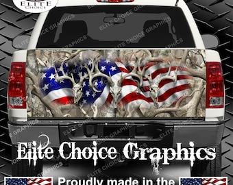 American Buck Obliteration Truck Tailgate Wrap Vinyl Graphic Decal Sticker Wrap