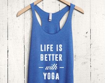 Cute Yoga Shirt - funny yoga top, flowy yoga tank, cute yoga vest, funny yoga shirt, flowy workout tank top, yoga quote shirt, yoga gifts