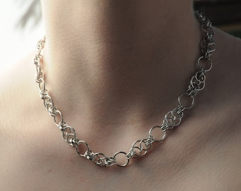 Handfast Chain Maille Necklace // Chain Maille Jewellery
