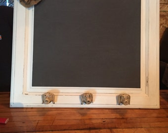shabby chic chalkboard, distressed