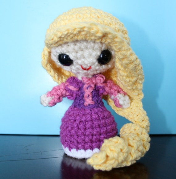 Amigurumi Star Wars Patrones Gratis : Rapunzel Tangled Amigurumi Crochet Doll