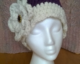 Downton Abbey Inspired Crocheted Cloche Hat, 1920s Retro/Vintage
