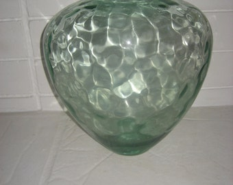 Giant Very Large Big Huge 14 1/2 inch Tall  Glass VASE