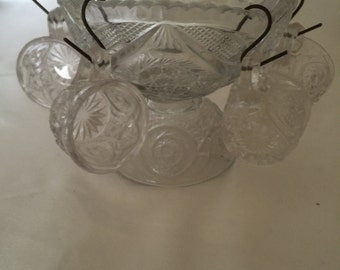 Antique Child's Punch Bowl Set