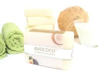 New! Unscented Coconut Milk Soap Bar, Unscented Soap, All Natural Soap, Vegan Soap, Sensitive Skin Soap, Coconut Soap, Handmade Soap