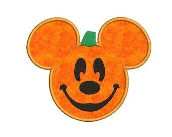 Pumpkin Applique Design - Halloween embroidery design - pes - jef - hus - vip - vp3 - xxx - dst - exp file - 4x4 - 5x7 - 6x10