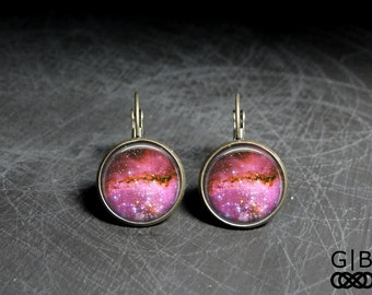 Pink Star Earrings Dangles Pink Star Jewelry - Pink Star Earrings Pink Star Dangles - Star Pink Earrings Star Pink Dangles Cute Pink Jewelry
