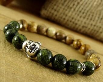 Yoga bracelet Yoga jewelry Protection bracelet Yoga gift Energy bracelet Buddha bracelet Buddhist jewelry Mantra Bracelet Wrist Mala Bracele