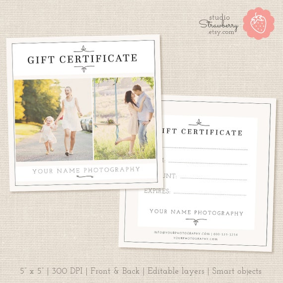 gift certificate template photoshop - photography gift certificate template photo gift card