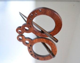 Mahogany Wood Hairclips / Fermacapelli in Legno di Mogano - Handcrafted / Realizzato Artigianalmente