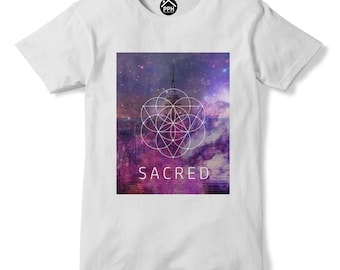 Empire State Sacred Geometry T Shirt Space Galaxy Tshirt Hipster Triangle PP165