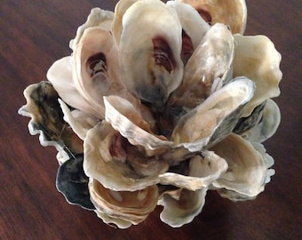 Oyster Shell Candle Holder/Rustic/Coastal