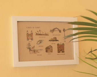 Places in Sydney Print