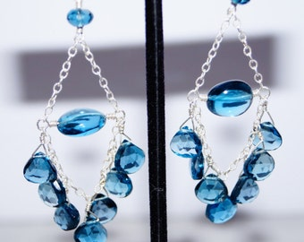 London Blue Topaz Chandelier Earrings