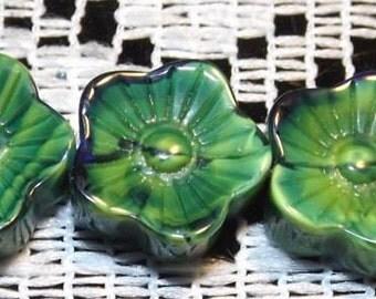 Beads of glass, 12mm, 15 pcs