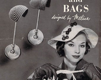 VintageCrochet  Patterns - Hiawatha - Hats & Bags - Designed by Melina- 1953