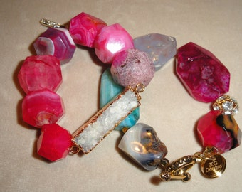 Multi-colored Agate Stone Bracelet