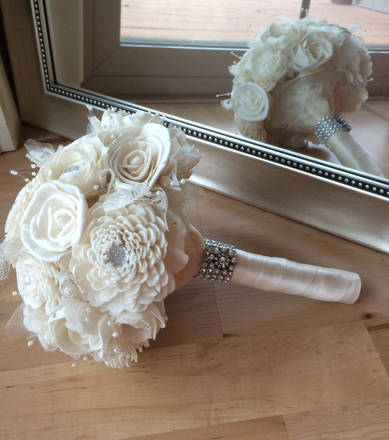 Simple Wedding Bouquet Of Flowers: White Bouquet Simple Wedding Bouquet Sola By