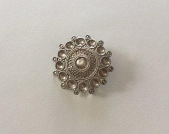 Antique/Vintage Stylish Sterling Silver Brooch