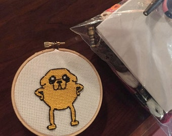 Jake the Dog; Adventure Time; Cross stitch portait