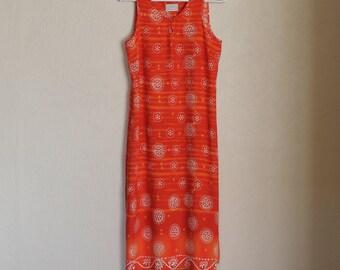 Orange Dress Sleeveless Summer Dress Long Maxi Dress Women's  Romantic  Pencil Dress Bohemian Hippie Boho Beach Bodycon Large Size