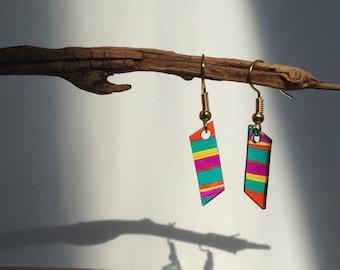 Striped Parallelograms Earrings