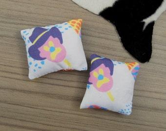 Bubble O Bill cushion / Miniature cushions / 1:12 scale dollhouse cushion / modern miniature furniture