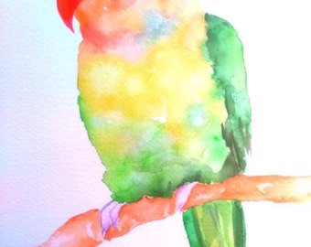 Bright Wall Decor Bird Print Parrot Digital Art Bird Printablel Wall Art Digital Download Art Nursery Wall Art Bird Exotic Parrot Art