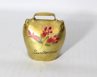 Switzerland Golden Bell Hand Painted by Dobin