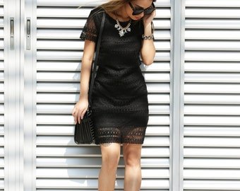 SALE! Black Lace Detail Dress