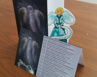 Angel electrostatic/greeting card all occasion card greeting/Ange/gift/birthday/congratulations/thoughts-A-0002