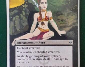 Enslave altered art Slave Leia card
