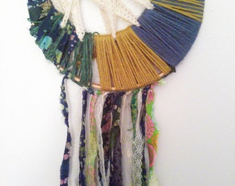 Green Spring Dreamcatcher with Lace