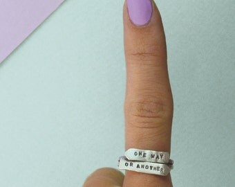 One Way or Another Signpost Arrow Ring