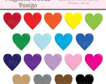 Stitched Heart Clip Art, Hearts Clip Art, Heart Clip Art, Valentine's Day Clip Art, Hearts PNG, Digital Hearts, Small Commercial Clip Art