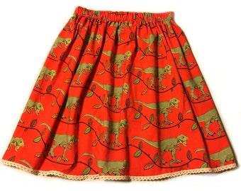 Adult red dinosaur skirt