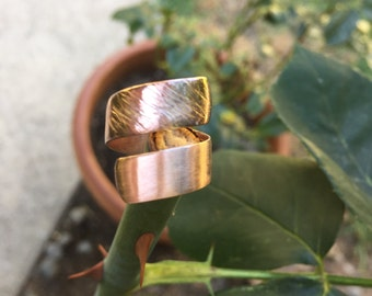 Copper Twisted Embellished Ring