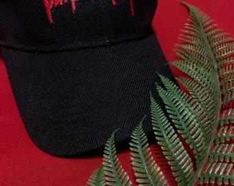 Embroidered Baseball Hat Cap Justin Bieber Purpose Tour Logo Black Tumblr Aesthetic Hipster