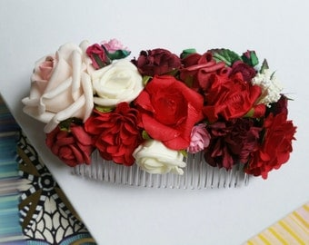 Bridal flower hair accessories