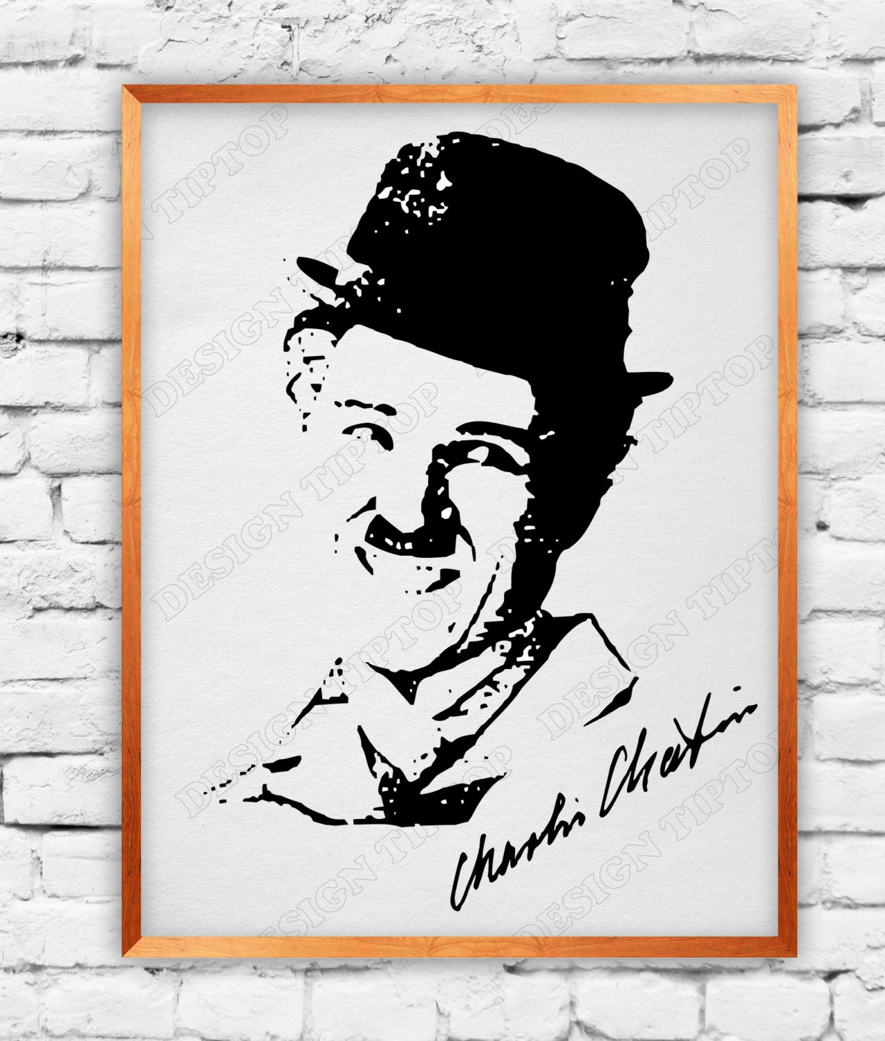 Charlie Chaplin print and cut files svg dxf png