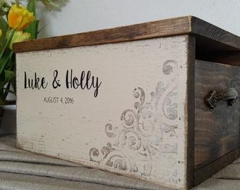 Rustic Card Box - Wedding Card Box - Personalized Wedding Card Box - Rustic Wedding - Wedding Card Holder - Wood Card Box - Shabby Chic