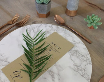"""Marble Charger Plates - 12.5"""" & 12"""" diameter"""