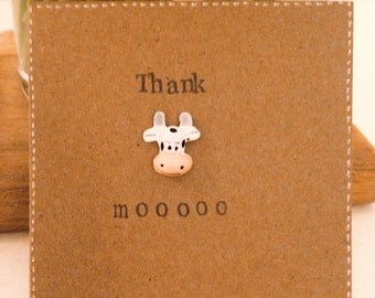 Thank moo thank you cow card