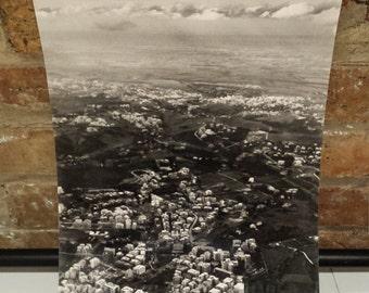 Original B&W Arial Photograph of Italian Village by Klingenberg