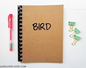 JOURNALING GYPSY- BIRD- One Word Art- Thought- Journal