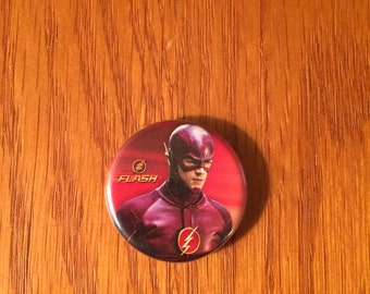 The Flash button style refrigerator magnet, The Flash refrigerator magnet, The Flash kitchen magnet, The Flash magnet