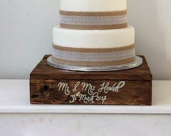 Wedding Cake Stand - Wooden Cake Stand - Personalised Wedding Decor - Rustic Cake Stand - Alternative - Unique - Personalised - Wood - Decor