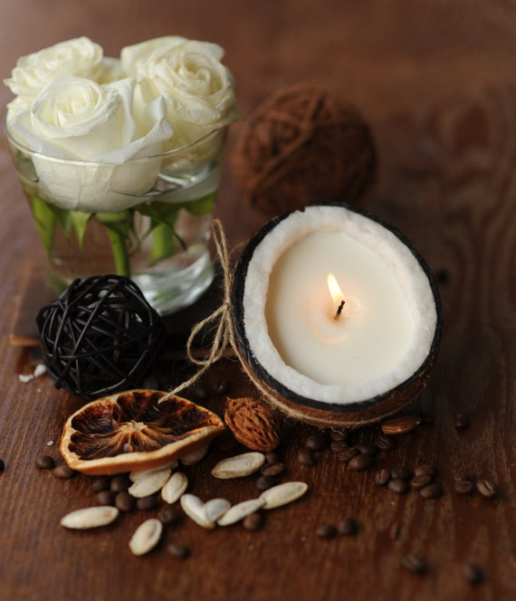 Awesome Coconut Shell Candle, Coconut Candles, Soy Candles - Scented Candles - Soy Wax Candles - Unique Gift