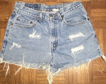 Vintage Levi's High Waisted Shorts